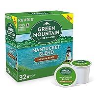 グリーンマウンテンコーヒー ナンタッケブレンド ミディアムロースト コーヒー 32個入 Kカップ Green Mountain Coffee Keurig [並行輸入]
