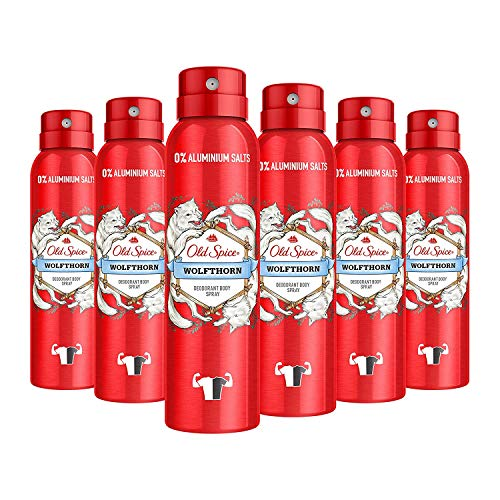 Old Spice Lot de 6 déodorants en spray pour homme 6 x 150 ml Sans aluminium