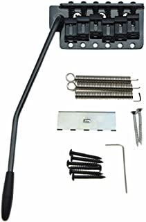 Dopro Black ST Strat Guitar Trem Tremolo Bridge Full Size Block with Vintage Bent Steel Saddles for Stratocaster