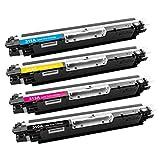 Tóner de Imagen Compatible para HP Color Laserjet Pro CP1025, CP1025NW, CP1020, 100 MFP M175A, M175NW, 200 MFP M275A, M275NW, TopShot Laserjet M275 4 Toners CE310A CE311A CE312A CE313A