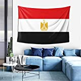 ZHYY Egypt National Flag Country Banner Tapestry Wall Hanging Decoration Tapestries for Bedroom Living Room Dorm Indoor Home Decor (60x40 inch)