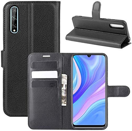 Lapinette - Funda para Huawei P Smart S (piel sintética, cierre magnético), color negro