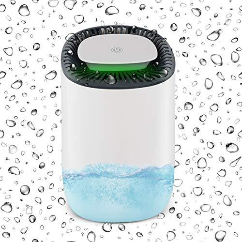 Kirintech Tragbare Luftentfeuchter, Ultra-Quiet Auto Abschaltautomatik Luftentfeuchter Mit 600Ml Wassertank, Für Feuchtigkeit, Feuchtigkeit, Schimmel In Home Bathroom Bedroom Closet