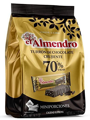 El Almendro - Porciones de Turrón de Chocolate Crujiente 70% 400g