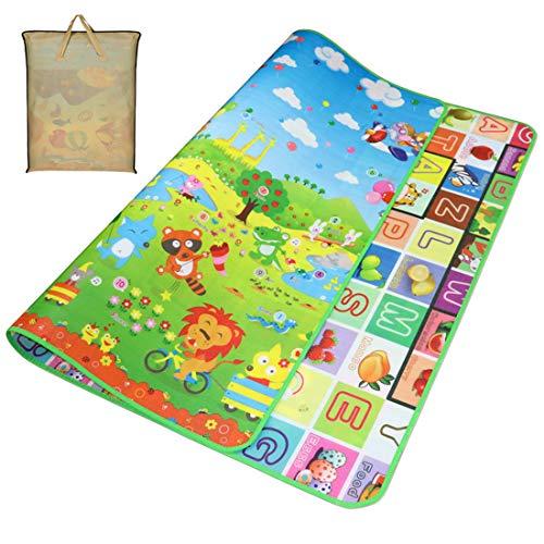 Gutsbox Baby Kinderteppich Spielteppich Spielmatte Kinder Puzzlematte Baby-kriechende Auflage Crawl Junge kinderzimmer Spielmatte Kinderzimmerteppich Picknickdecke (Tier, 180 x 200 cm)