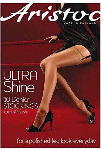 Aristoc Ultra Shine hautfarbene Strümpfe mit 10 Denier