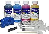 Kit de recarga para cartuchos originales Brother serie LC-223, LC-221, LC-225, LC-227, 400 ml, tinta de recarga Premium Inktec + chip reseter