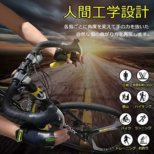 F-TUBAME®サイクリンググローブ夏3D立体サイクルグローブ自転車手袋衝撃吸収耐磨耗性換気性通気性速乾性滑り止め付き5色男女兼用(Medium,イエローNEW蛍光logo)