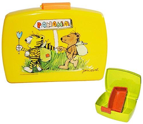 alles-meine.de GmbH Brotdose -  Janosch  - gelb mit extra Einsatz - Brotbüchse Küche Essen Tigerente / Lunchbox