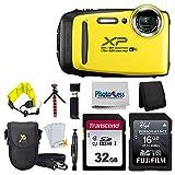 "Fujifilm FinePix XP140 Digital Camera (Sky Blue) + 48GB SD Card + Floating Strap + Cleaning System + 12"" Flexible Tripod + Screen Protectors + SD Card Reader + Memory Card Wallet + Camera Case"