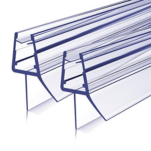 Duschdichtung Ersatzdichtung 60cm Duschtür Dichtung 2 Stück, Bodendichtung Schwallschutz mit Wasserabweiser für Duschkabine Duschwand Glas mit Glasstärke 7-8mm