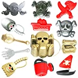 NATITI Beach Toys Sand Pirate Toys Set with Beach Shovels Tools, Beach Bucket, Sand Molds, Watering Can for Outdoor Summer Beach Party, Indoor Sandbox Toys for Kids, Toddlers, Boys and Girls (13 Pcs)