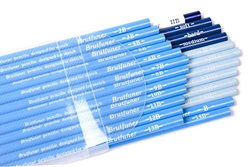 Artist Pencil Collection Best Quality 24pcs/Set H, 2H, 3H, 4H,5H, 6H, HB, B, 2B, 3B, 4B, 5B, 6B, 7B, 8B, 9B, 10B, 11B, 12B, 13B, 14B, Soft, Medium, Hard, Graphite Sketching Pencils Professional Set