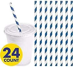 Striped Paper Straws Count Bright