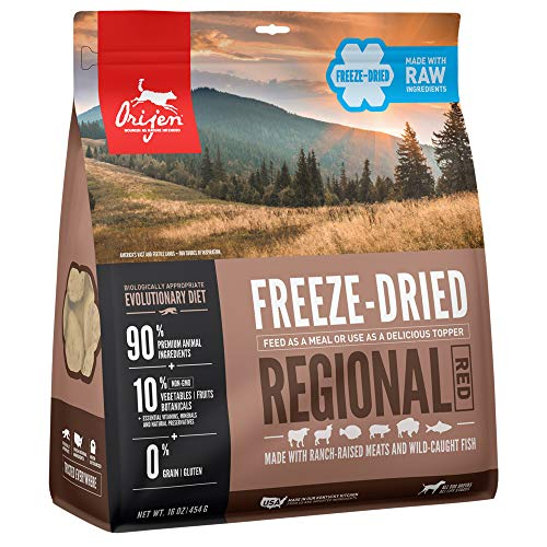 ORIJEN Regional Red High-Protein, Grain-Free, Premium Quality Meat, Freeze-Dried Dog Food