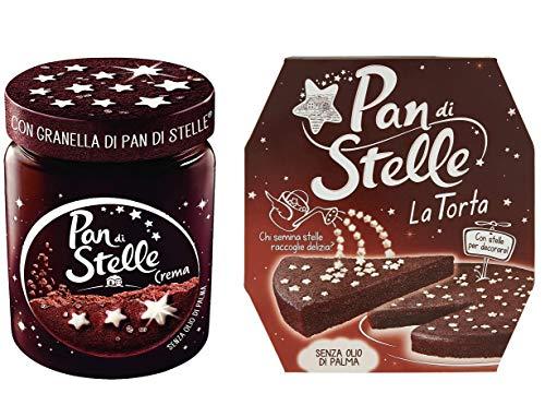 Set Pan Di Stelle con barattolo di crema spalmabile + torta pan di stelle con soffice e dolce goloso cacao