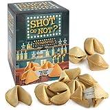 Shot or not 10 Glückskekse als Trinkspiel - Einzeln verpackt zu je 6 g in Design Box - Partyspaß mit lustigen Aufgaben - Made in Germany