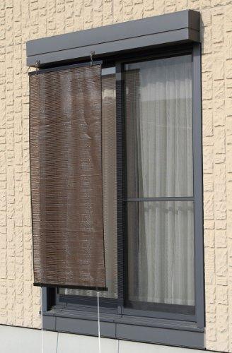 ワタナベ工業省エネ日差し対策スクリーン「ル・ソレイユ」ブラウン(幅90×高さ180cm)SN-9018