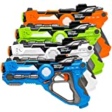 Best Choice Products Set of 4 Kids Laser Tag Toy Gun Blasters w/ Multiplayer Mode