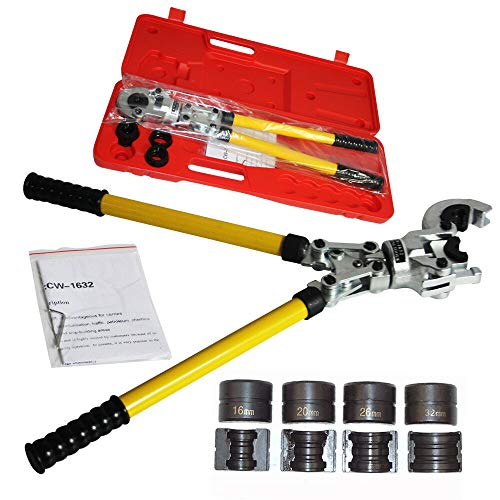 Press de montaje a trav/és de velocidades de rosca de PEX multicapa de tubo fittings AG 16mm-3//4ag