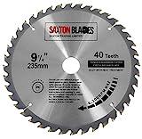 Saxton TCT23540T - Lama per sega circolare TCT per legno, 235 mm x 30 mm di foro x 40 denti, per Bosch, Dewalt, Makita