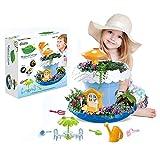 Fairy Garden Kit, DIY Garden Growing Kit Incluye macetas, regaderas, Platos para el Suelo y Herramientas de jardín, Juguetes interactivos para niños niñas
