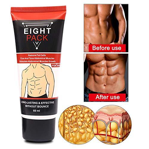 Crema para músculos abdominales para hombres, cuerpo que quema grasa Anticelulítico para adelgazar Fortalecimiento Apretar abdominal
