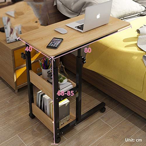 WSNBB Bettisch C Side Rolltisch Mit Arretierbaren Rollen, Medizinische Tragbare Notebook Laptop-Schreibtisch, Höhenverstellbar, TV Tray Table for Essen Frühstück (Color : D)
