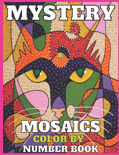 Mystery mosaics color by number: unique color by number pages of animal,forest,bird and more things! for adult relaxation and kids also