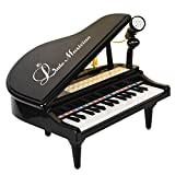 31 Keys Black Piano for Kids with Microphone Electronic Organ Music Keyboard