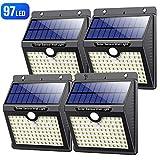 VOOE Lampe Solaire Extérieur【Version Haute Qualité】97 led 4 Pack Détecteur de Mouvement éclairage Solaire Spot...