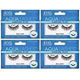 Ardell Aqua False Strip Lashes 344, Water Activated Fake Lashes, No Lash Glue Required, 4 Pack
