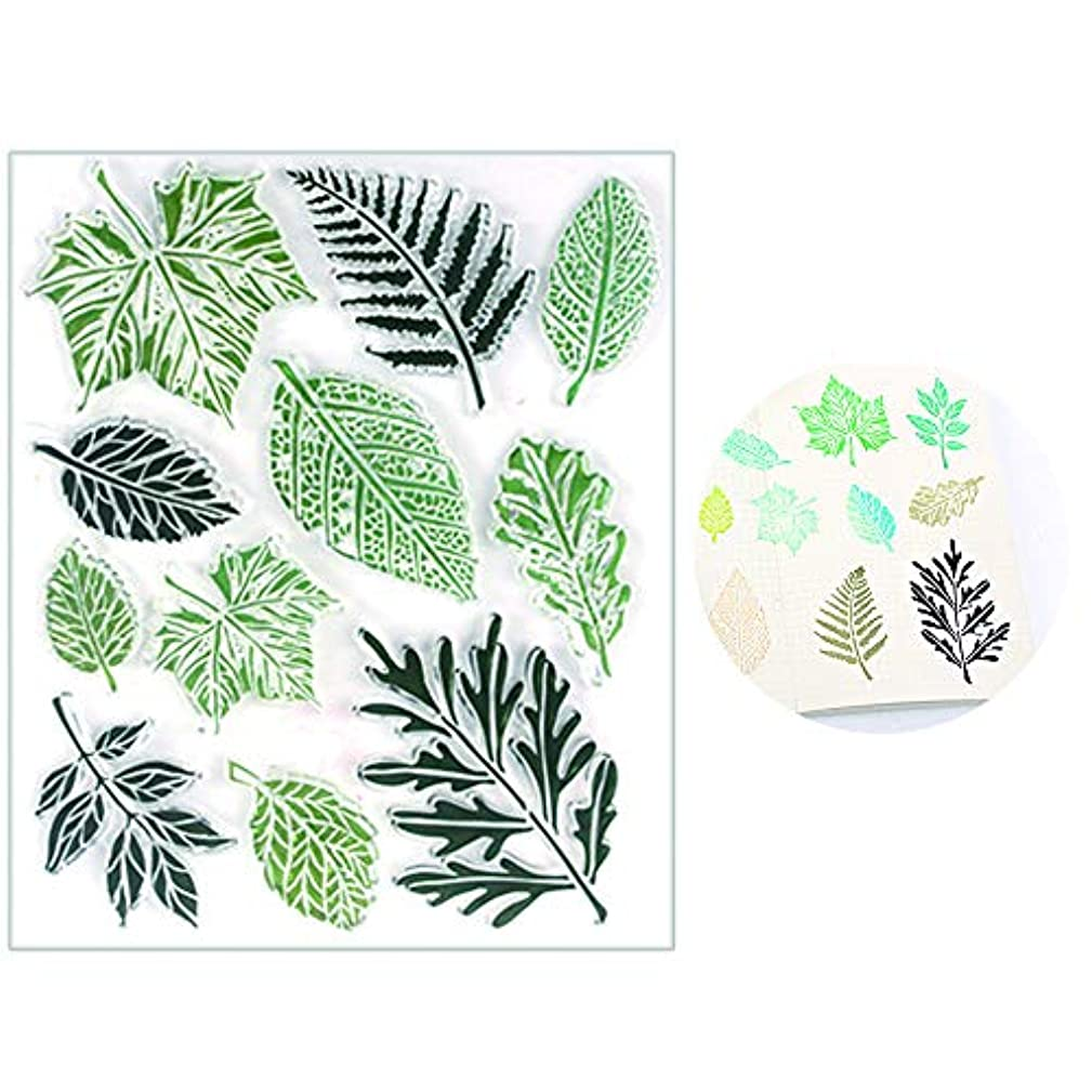 Leaves Silicone Clear Stamps for Card Making Decorative Letter Stamp