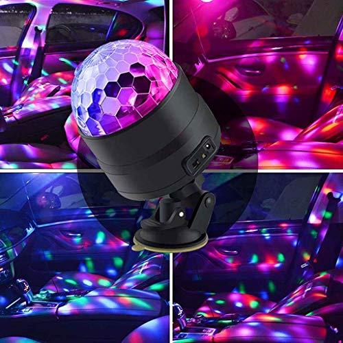 Disco-Lichter, Mini-LED-Projektionslichter, integrierter Akku, USB-Ladegerät, Fernbedienung, Magic Ball Bühnenlichter, DJ Sound-Steuerung, Lichter, Blitzlicht, Party, Weihnachten, Bühne, Disco F1