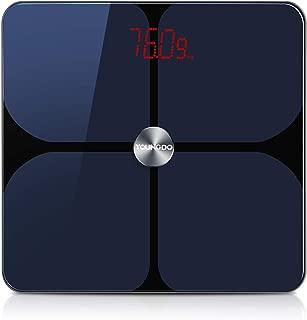 YOUNGDO 体重計 体脂肪計 体組成計 Bluetooth スマホ連動 23種類測定可能 体重/体脂肪率/体水分率/基礎代謝量/BMIなど スマートスケール iOS/Androidアプリで健康管理・肥満予防 日本語APP対応 ヘルスケア・Fitbit・Google Fitと連携 999ユーザー登録可能