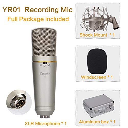 JVCAN Professionele USB-opnamemicrofoon, voor laptop MAC of computeropname van zangstem in de directe uitzendruimte