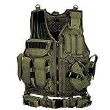 Lixada Chaleco Táctico Multifuncional Respirable Desmontaje Rápido Equipo de Entrenamiento para CS Field Protections Vest
