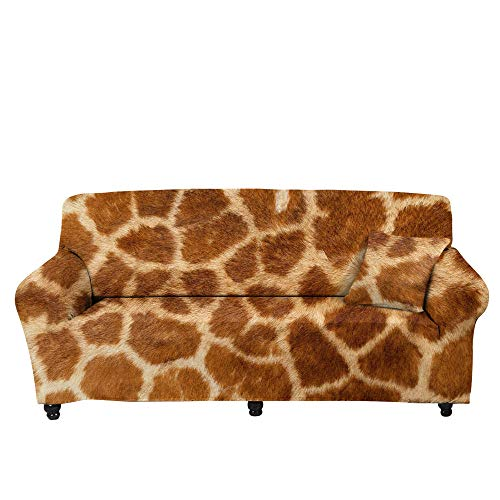 HXTSWGS Funda de sofá de Alta Elasticidad,Funda de sofá Impresa en 3D, cojín de sofá de Sala de Estar Impreso, Toalla de sofá, Funda Protectora elástica Completa-Color2_235-300cm