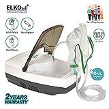 ELKOneb Respiplus EL-710 Piston Compressor Nebulizer Machine for Adult & Child with Complete Mask Kit (White/Grey)