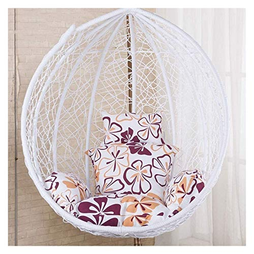 ZHZH Outdoor/Indoor Furniture Chair Cushion Hanging Egg Chair Cushion/Hanging Swing Chair Terrace Garden Cushion/Removable and Washable, Soft and Comfortable (Color : B)