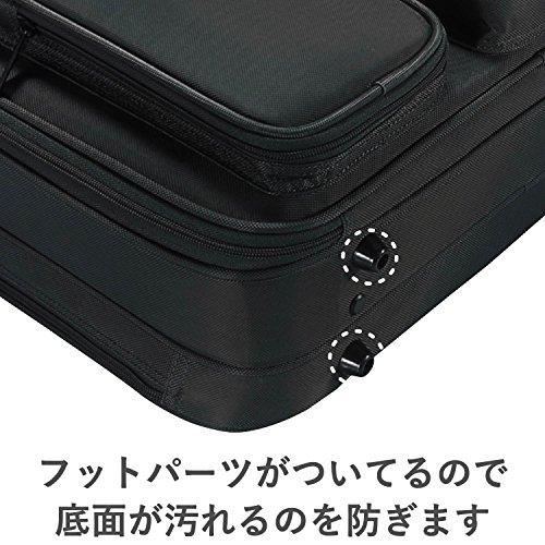 『エレコム ビジネスバッグ キャリングバッグ A4対応 16.4インチ ワイド クラムシェルタイプ ブラック BM-SA04BK』の3枚目の画像