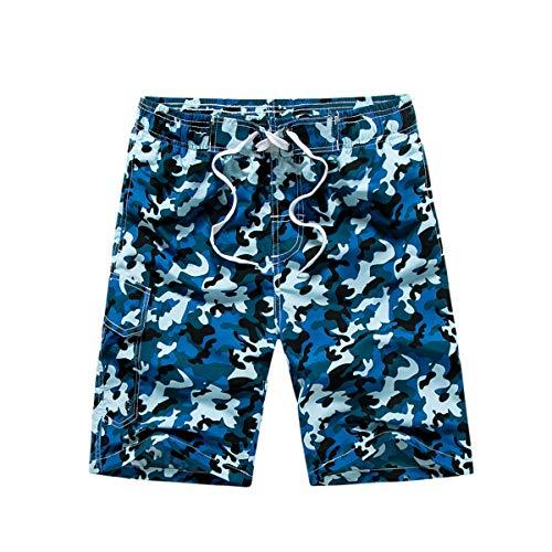 UWBACK Camouflage Boys Swim Trunks Beach Board Shorts Blue S