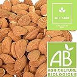 Amandes Décortiquées Bio De Qualité Extra, 1 kg, Fruit Sec Energétique Pour Votre Apport En Vitamines et Minéraux Contribueront aux Bienfaits et à la Santé de Votre Organisme