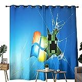 Cortinas opacas Game Minecraft utilizadas para oscurecer cortinas opacas en la habitación de aislamiento térmico de 106,7 x 160 cm
