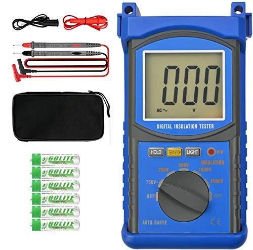 Digital Insulation Resistance Tester ANNMETER AN-6688F - Multimeter Test Voltage 2.5kV, AC Volt 750V, Megohmmeter Insulation Resistance 20G ohms, Voltmeter tester unit