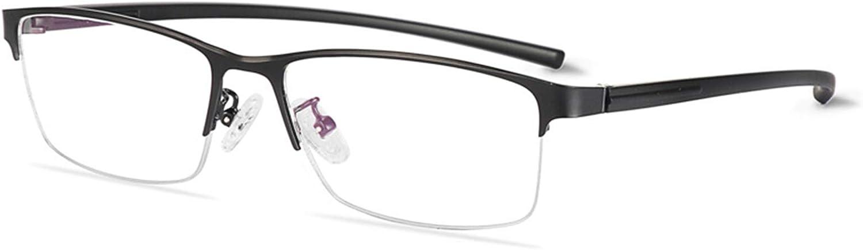 Gafas de lectura que cambian de color para hombres, lentes de resina de PC, gafas de sol con montura de aleación ultraligera/protección UV, dioptrías de +0.25 a +3.0,Negro,+1.5