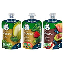 small Gerber Puree Organic 2. Grocery Baby Formula with a variety of fruits and vegetables, 3.5 oz each, pack of 18