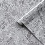 """Grey Marble Contact Paper Marble Wallpaper Peel and Stick Countertops for Kitchen Marble Self Adhesive Wallpaper Marble Removable Wallpaper Bathroom Wallpaper Waterproof Thick Easy to Use 15.7""""×118"""""""