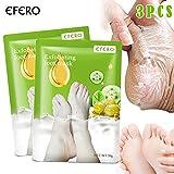 Fishyu 3Pairs Peeling Foot Máscara Exfoliante Scrub Pedicuros Spa Foot Peel Altos Moisture Pies Cuidado