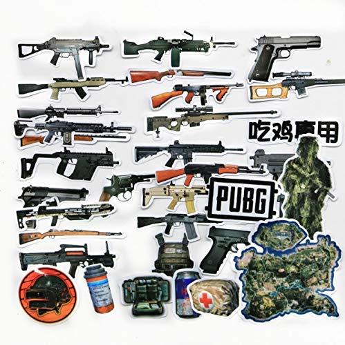 KATTERS Aufkleber Gezeiten Kartenspiel Waffen Waffen Aufkleber Koffer Skateboard Computer Notebook Persönlichkeit Graffiti 30 STK